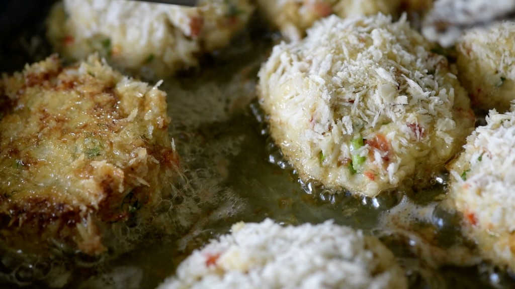 Frying Crab Cakes